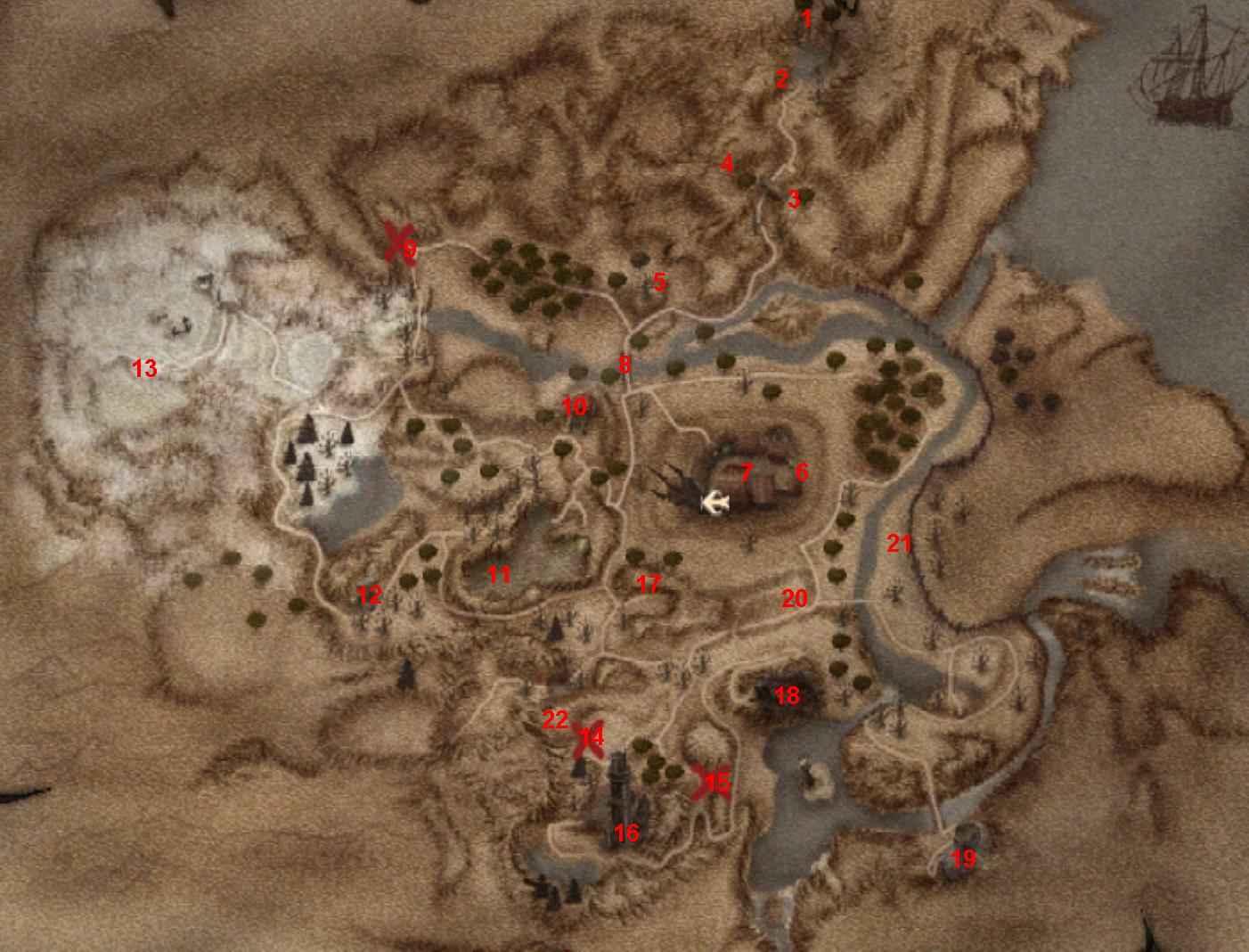 Gothic 2 ночь ворона - долина рудников карта.